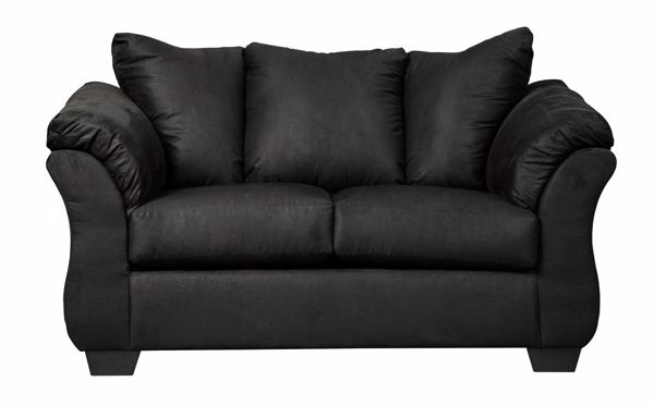 Picture of Darcy - Black Loveseat