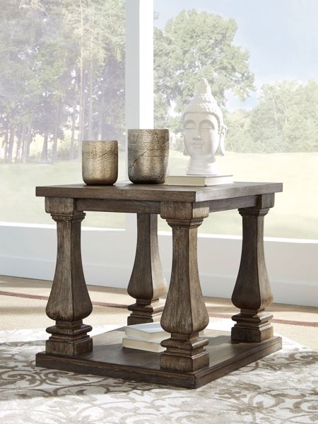 Picture of Johnelle - Gray Square End Table