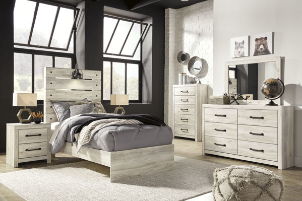Picture of Cambeck - White Twin Panel Bed