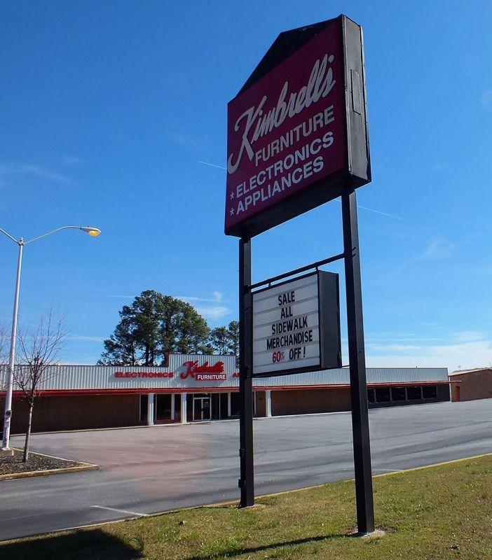 Entrance to Kimbrells in Spartanburg, SC