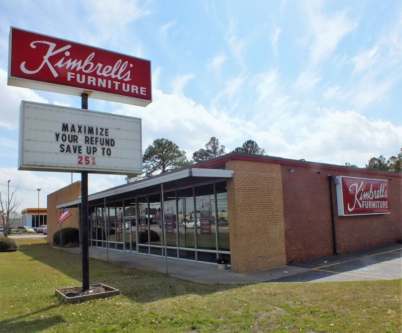 Entrance to Kimbrells in Sumter, SC Broad St
