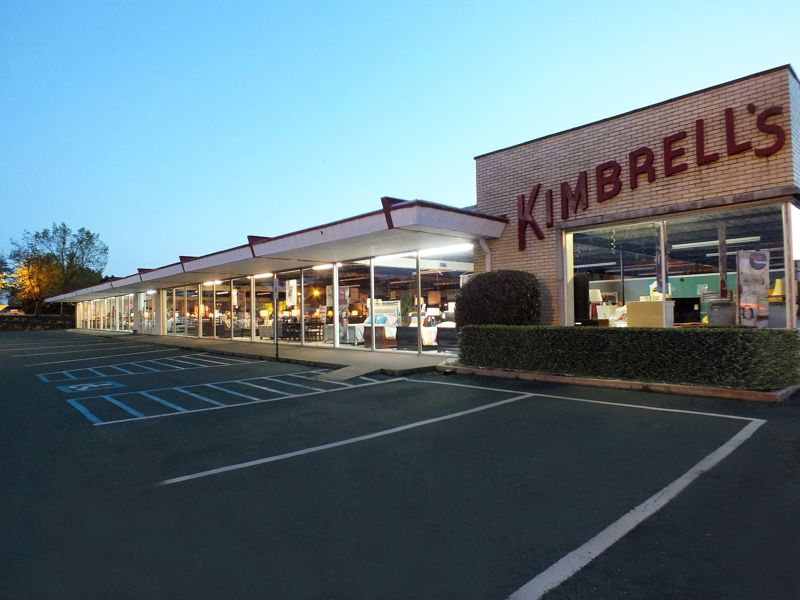Entrance to Kimbrells Furniture in Charlotte, NC South Blvd