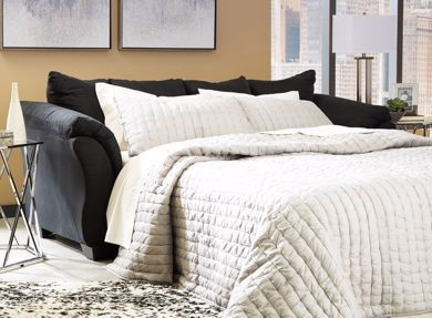 Picture of Darcy - Black Sleeper Sofa