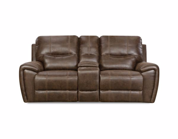Picture of Desert - Chocolate Reclining Console Loveseat
