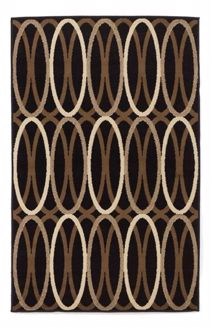 Picture of Kyle - Black/Brown 4x7 Rug