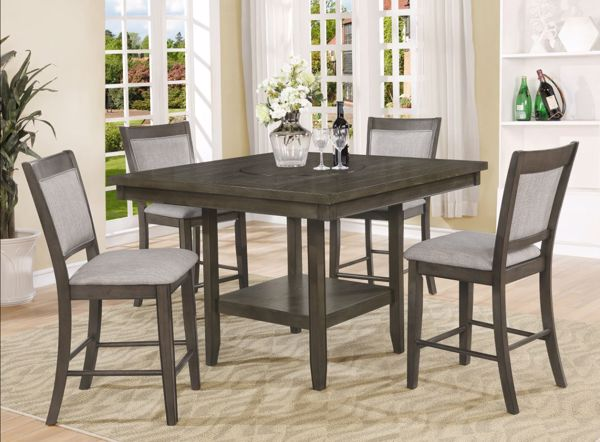 Picture of Fulton - Gray Pub Table & 4 Stools