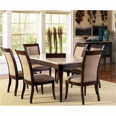 Picture of Marseille - Marble Top Table & 6 Chairs