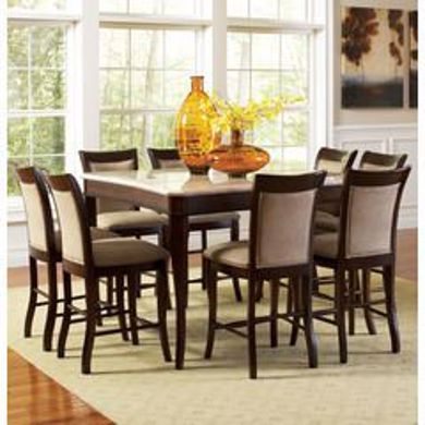 Picture of Marseille - Marble Top Pub Table & 6 Chairs