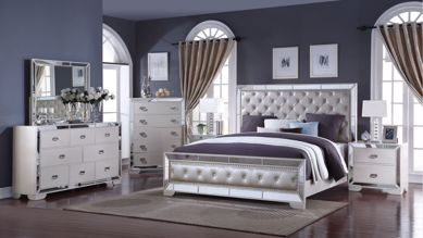 Picture of Gloria - White Queen Bed