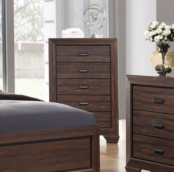 Picture of Farrow - Walnut 5 Drawer Chest