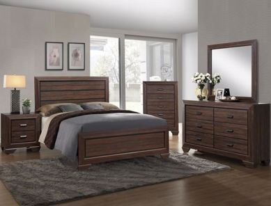 Picture of Farrow - Walnut Queen Bed
