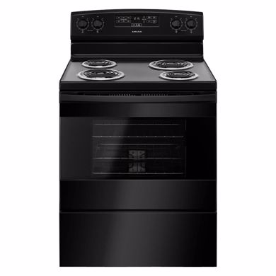 "Picture of 30"" Black Electric Range"