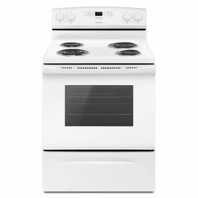 "Picture of 30"" White Electric Range"
