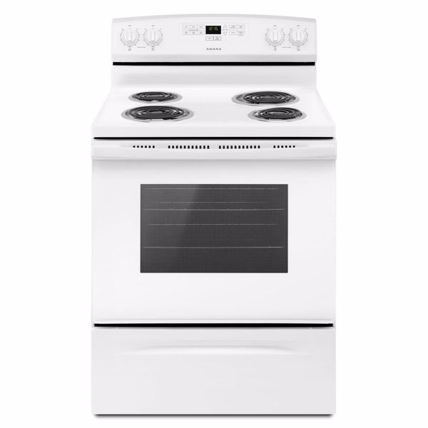 """Picture of 30"""" White Electric Range"""
