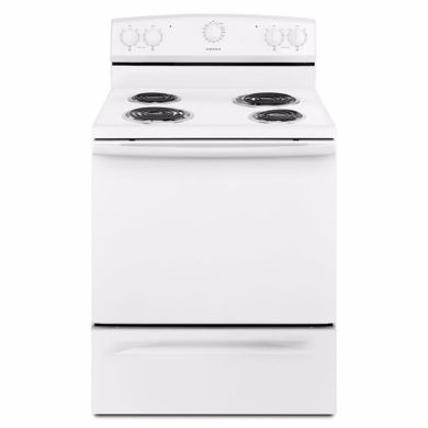 "Picture of White Electric Range 30"" Freestanding"