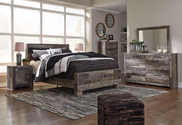 Picture of Derekson - Multi Gray Queen Bed