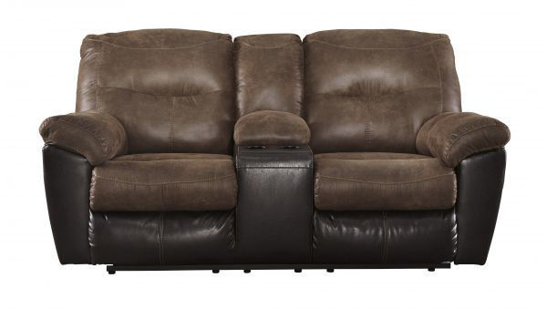 Picture of Follett - Coffee Reclining Console Loveseat
