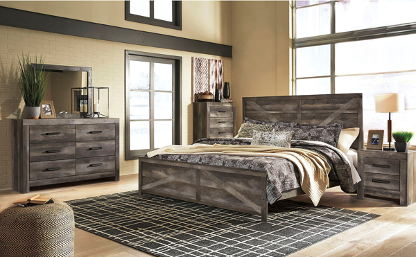 Picture of Wynnlow - Gray King Panel Bed