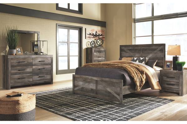 Picture of Wynnlow - Gray Queen Panel Bed