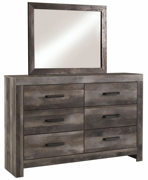 Picture of Wynnlow - Gray Dresser & Mirror