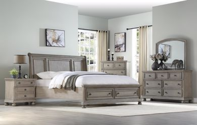 Picture of Ashcott - Grey King Bed