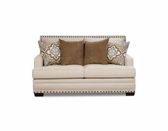 Picture of Anna - White Linen Loveseat