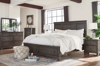 Picture of Devensted - Gray King Storage Bed