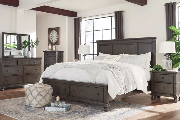 Picture of Devensted - Gray Queen Storage Bed