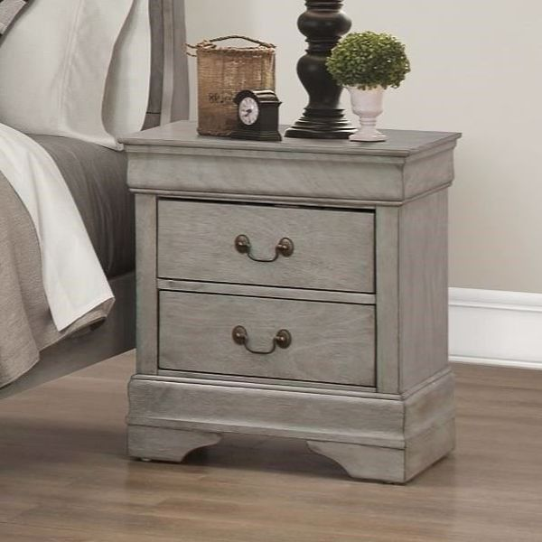 Picture of Louis Philip - Gray Nightstand