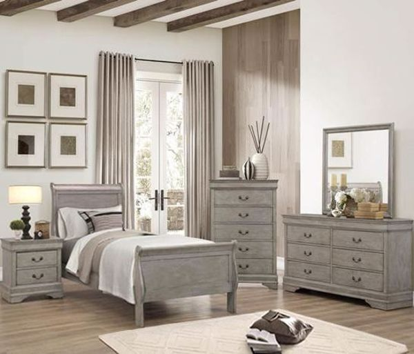 Picture of Louis Philip - Gray Twin Bed