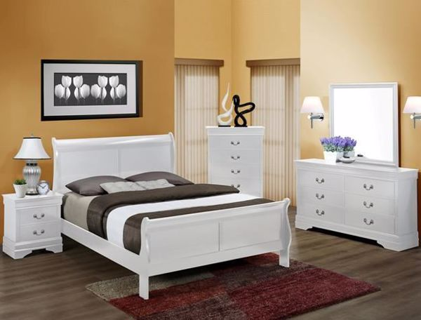Picture of Louis Philip - White King Bed