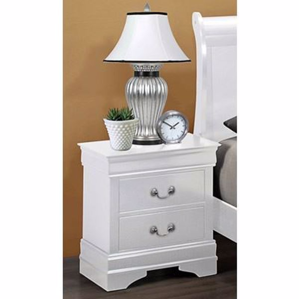 Picture of Louis Philip - White Nightstand