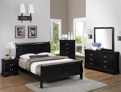 Picture of Louis Philip - Black Full Bed