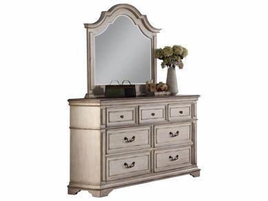 Picture of Anastasia - White Dresser & Mirror