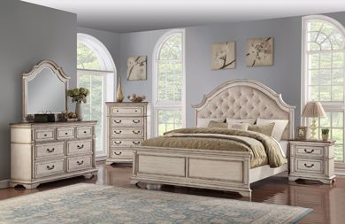 Picture of Anastasia - White Queen Bed
