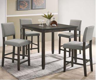 Derick Gray 5pc Pub Set Kimbrell S Furniture