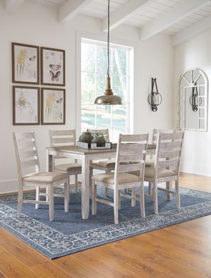 Picture of Skempton - White Table with 6 Chairs
