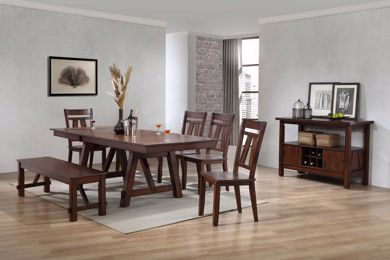 Picture of Winslow - Cherry Table with 4 Chairs & Bench