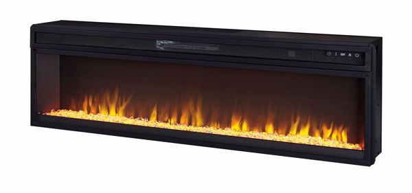 Picture of Wide Fireplace Insert - Faux Crystal/Stone