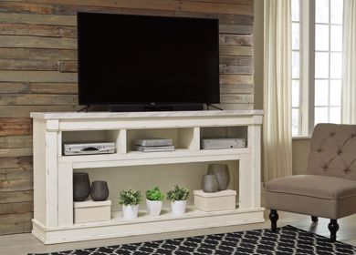 Picture of Becklyn - White X-Large TV Stand