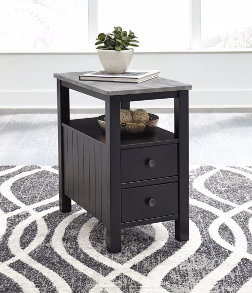 Picture of Ezmonei - Black Chairside End Table
