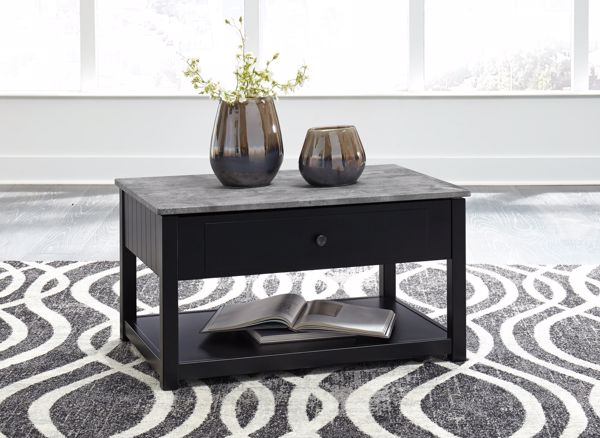 Picture of Ezmonei - Black Lift top Cocktail Table