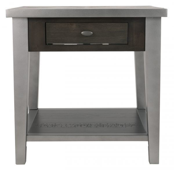 Picture of Branbury - Gray End Table
