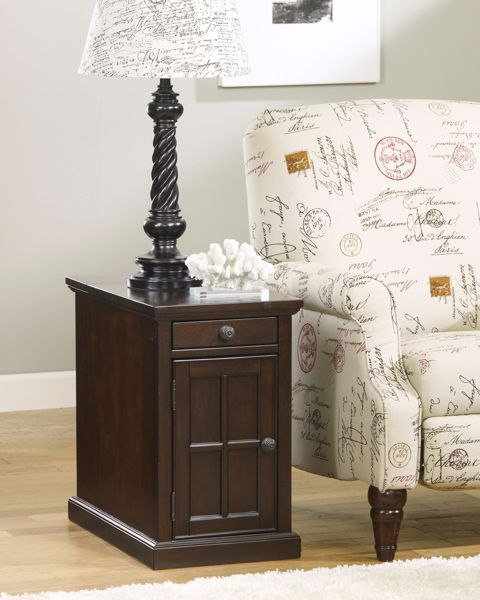 Picture of Laflorn - Dark Brown Chairside Table