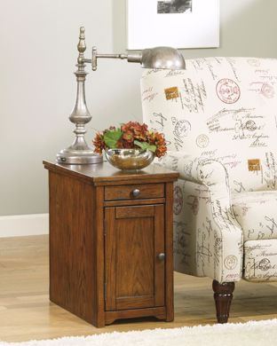 Picture of Laflorn - Oak Chairside Table