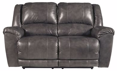 Picture of Persiphone - Charcoal Reclining Loveseat