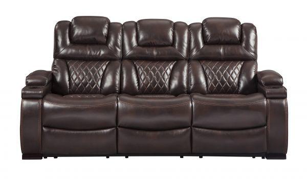 Picture of Warnerton - Chocolate Power Reclining Sofa