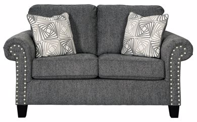 Picture of Agleno - Charcoal Loveseat