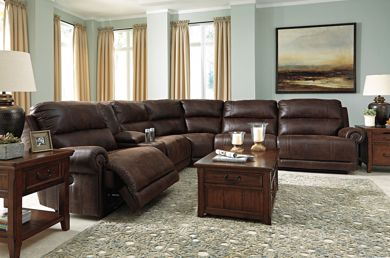 Picture of Luttrell - Espresso 6PC Reclining Sectional
