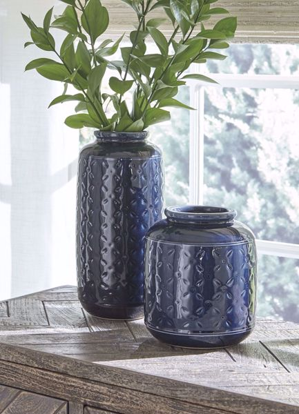 Picture of Marenda Navy 2PC Vase Set